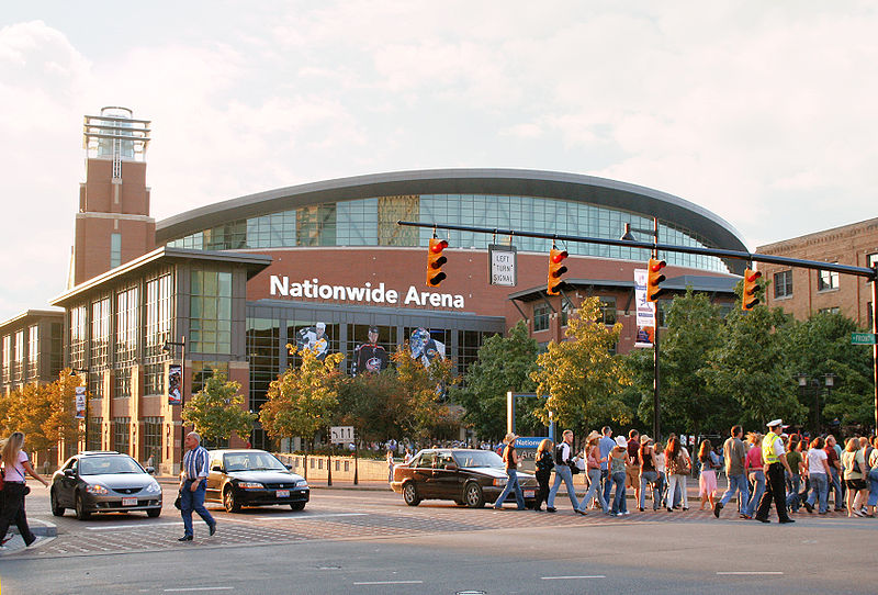 Nationwide Arena in Downtown Columbus Ohio